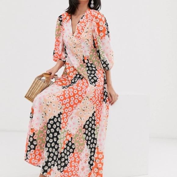 ASOS Dresses & Skirts - Asos • Daisy Print Maxi Trapeze Dress